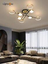 Modern minimalist living room lamp light luxury art Nordic restaurant chandelier