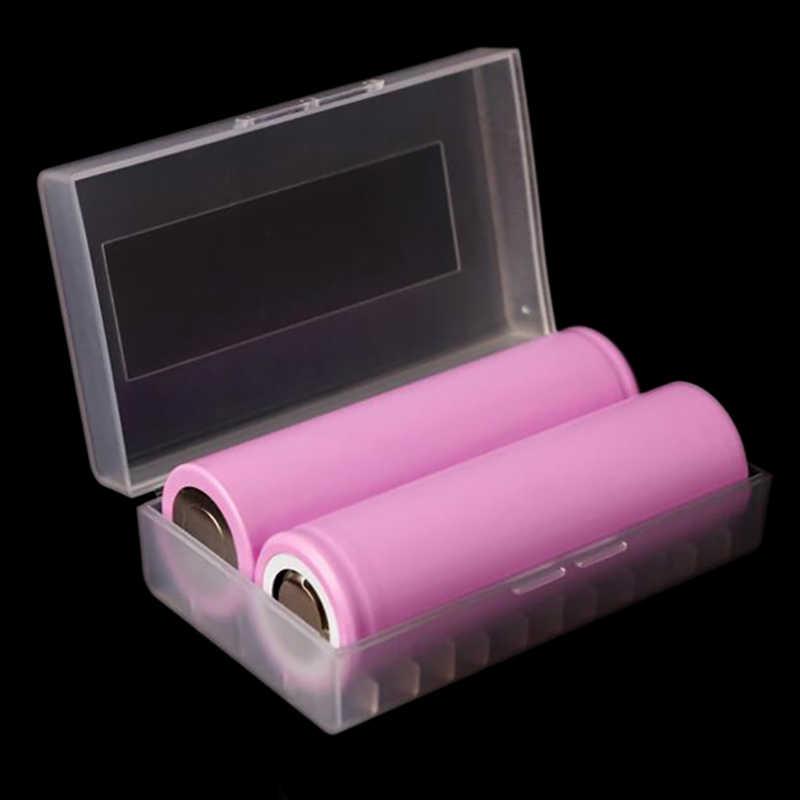 2 pces 2*20700 21700 caixa de bateria caso recipiente impermeável 21700 caixa de armazenamento da bateria caso