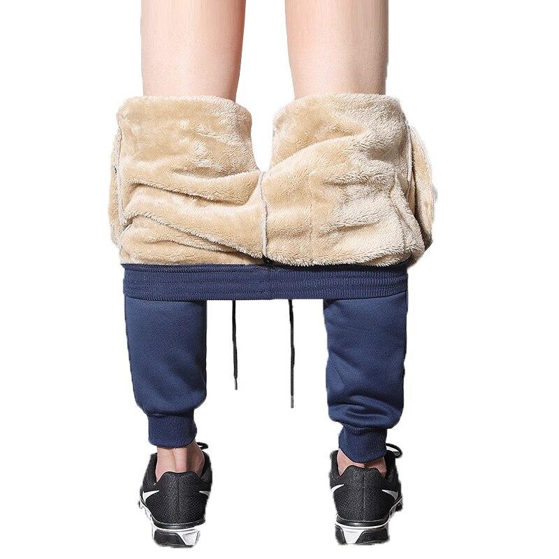 Drawstring Sweatpants Men 2019 Mens Trousers Fashions Men Heavyweight Pantalon Hombre  Harem Pants Man Winter Warm Plush Pants