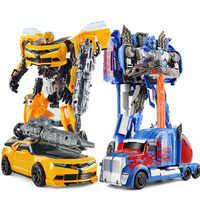 27cm Transformation Roboter Spielzeug Auto Serie Anime Optimus Prime Hornet Kunststoff ABS Roboter Für Kinder Jungen Spielzeug Mit Box