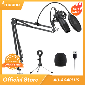 Микрофон MAONO A04Plus конденсаторный кардиоидный, 192 кГц/24 бит