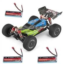 Модель высокоскоростного гоночного автомобиля Wltoys 144001 1:14 2,4G 4WD, два аккумулятора 60 км/ч, 7,4 В, 2600 мАч, модель автомобиля с дистанционным управ...