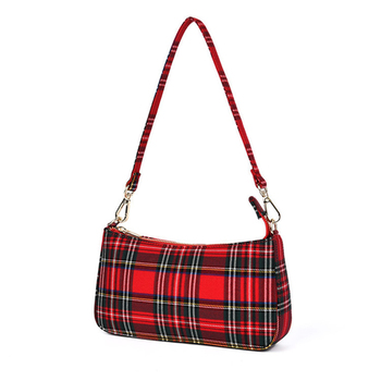 july s song new fashion high capacity pu handbag beautiful high qualitytravel bag for women and family lunch bag Fashion Designer Baguette Bag For Women  Red plaid Handbag High Quality Canvas Shoulder Crossbody Bag Beautiful Handbag