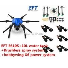 EFT yeni yükseltme E610S 10L 10kg tarım püskürtme drone çerçeve altı eksenli su geçirmez katlanır drone çerçeve ile X6 güç sistemi İha
