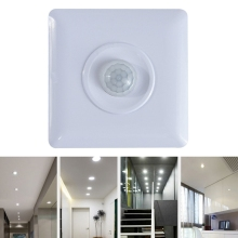 110 240V PIR Sensor Infrared Motion Detector Wall LED Light  for Burglar Alarm Home Security System