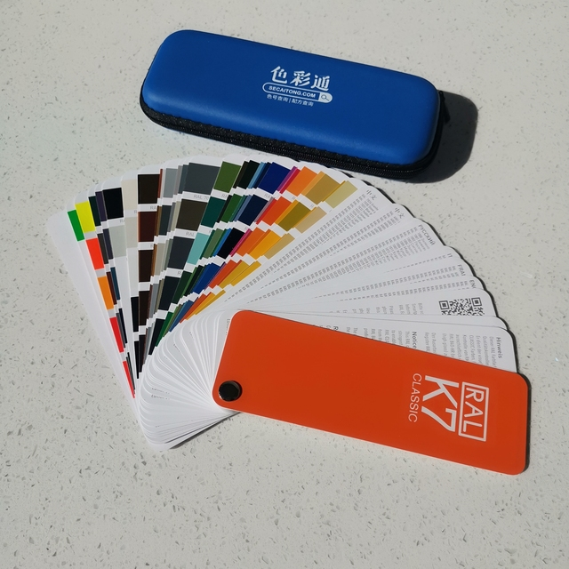 Free Shipping Germany RAL K7 International Standard Color Card Raul   Paint Coatings with Gift One Box