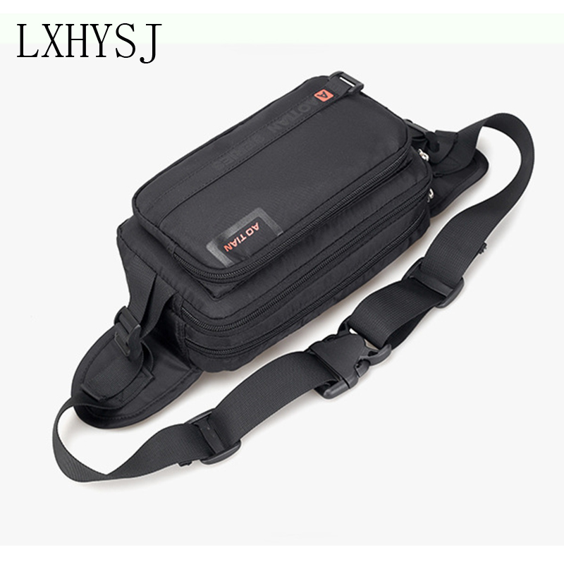 Waterproof Waist Bag For Men Large Capacity Fanny Pack Fashion Outdoor Sport Waist Packs Chest Bags Wear Resistant Crossbody Bag