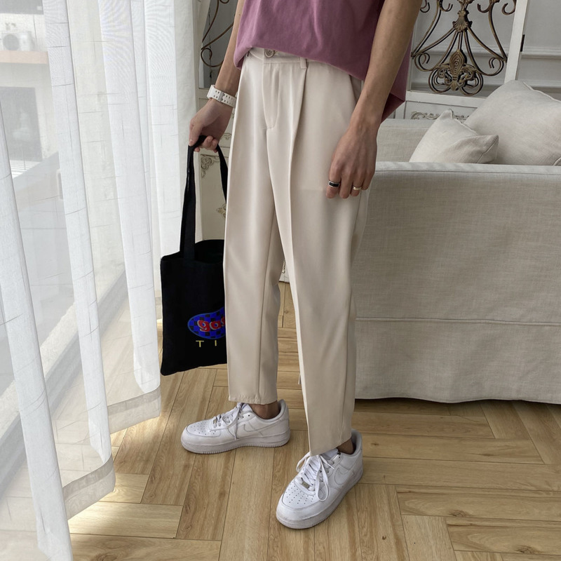 Privathinker  Korean Men Harem Pants Harajuku Man Solid Color Casual Black Pants 2020 Streetwear Male Beige Trousers