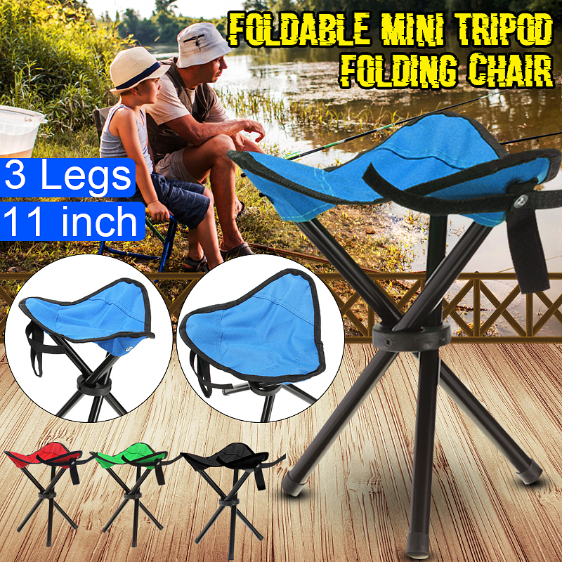 OUTDOOR PORTABLE FOLDING TRIPOD CAMPING HIKING FISHING PICNIC STOOL CHAIR SEAT