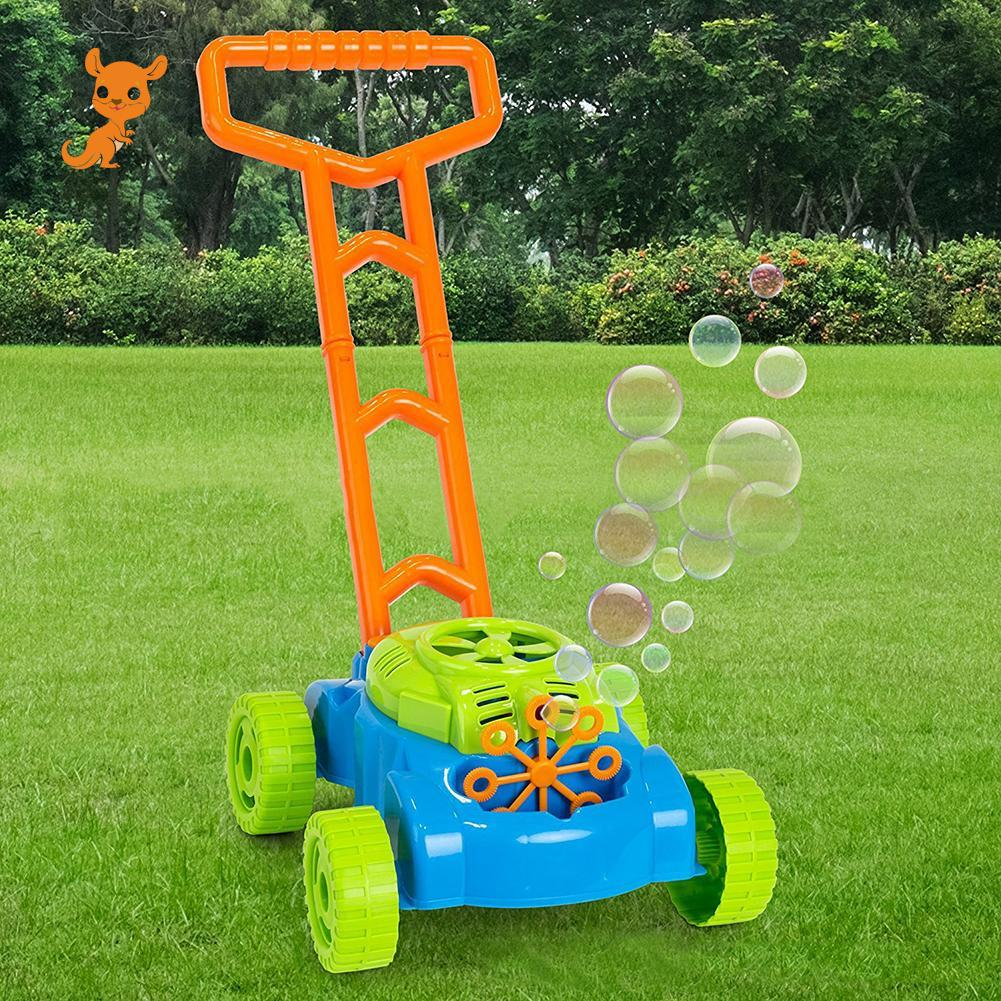Creative Home Garden Interactive Pushing Car Automatic Bubble Machine Maker Blower Baby Kids Toy Gift New Bubble Machine