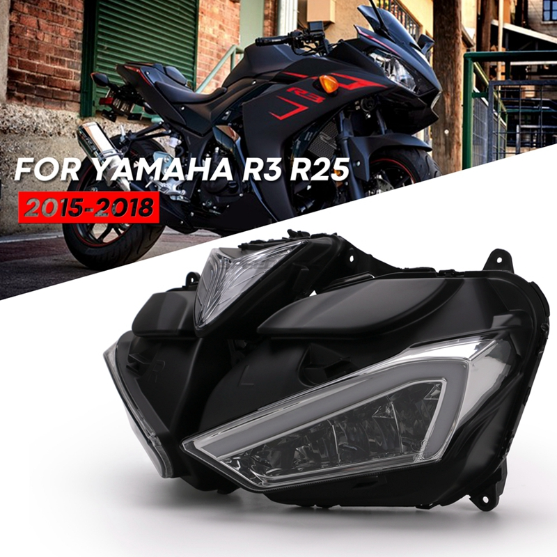 Motorcycle Accessories LED Headlight For YAMAHA YZF R25 R3 Front Head Light Housing YZF-R25 YZF-R3 2013 2014 2015 2016 2017