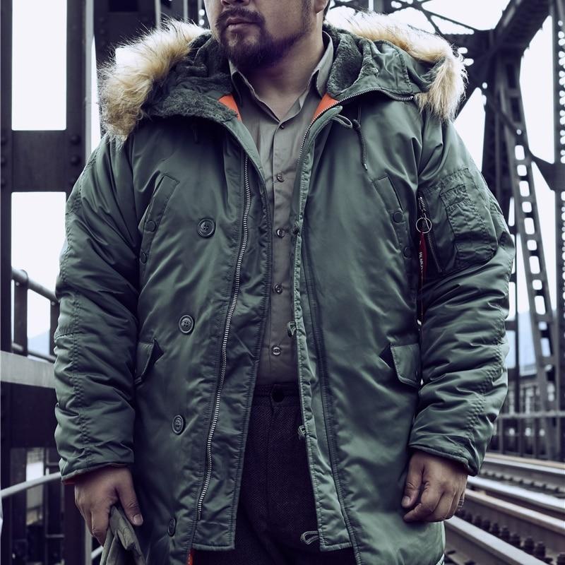 DAFEILI n3b военная куртка с капюшоном длинная русская зимняя куртка пальто мужской толстый homme