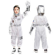 Childrens Party Game Astronaut Costume Role-playing Halloween Costume Carnival cosplay Full Dressing Ball kids Rocket Space suit(China)