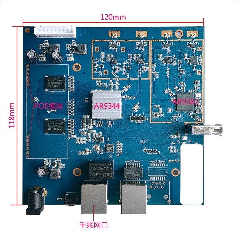 Tüketici Elektroniği'ten Hoparlör Aksesuarları'de AR9344 AR9382 Çift Bant Gigabit Yüksek Güç Yönlendirici 16M + 128M 65174 PA