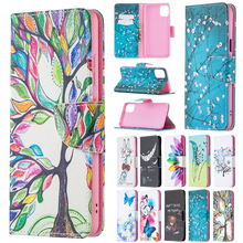Painted Leather Flip Case For Samsung Galaxy A32 A52 A72 A12 A02 A02S 5G A42 A21 A21S A31 A51 A71 Soft Phone Cover Wallet Coque