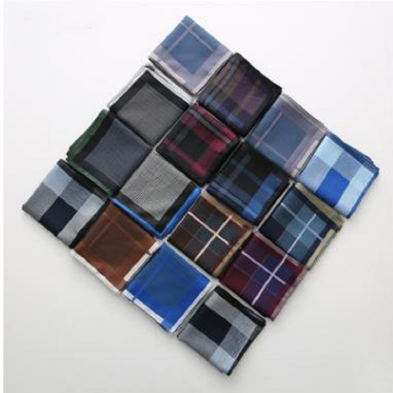 12pcs 43*43cm Fashion Men 100%cotton Jacquard Handkerchief