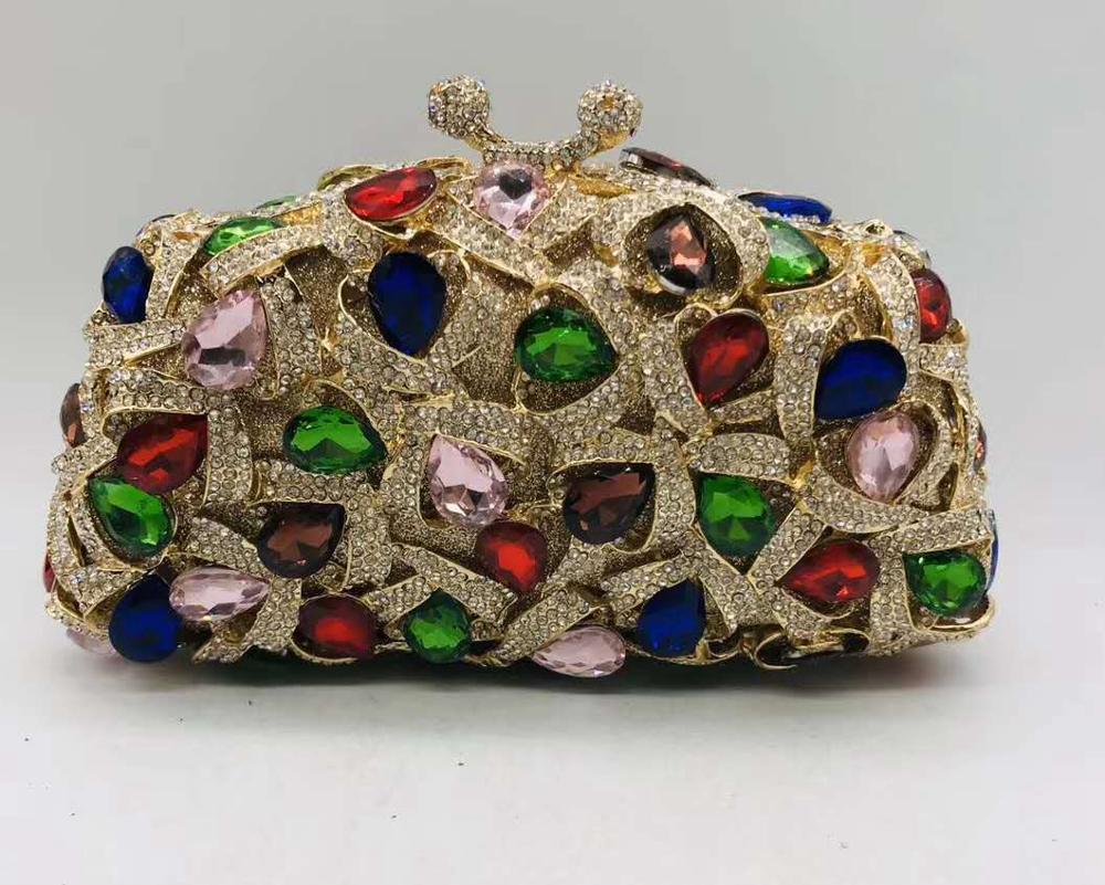 High Quality Luxury Crystal Evening Bags Luxury Handbags Women Bags Designer Diamonds Rhinestones Women's Pouch Evening Bags