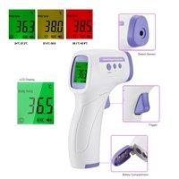 Termómetro Digital infrarrojo de mano para la frente, medidor de temperatura corporal sin contacto de alta precisión para adultos y bebés