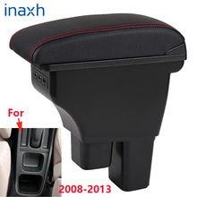 Pour Honda Fit accoudoir pour Honda Fit 2008 2009 2010 2011 2012 2013 voiture accoudoir boîte pièces de rénovation boîte de rangement intérieure 3USB