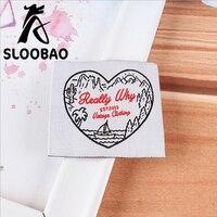 Angepasst gedruckt 200 stücke gewebte etiketten wichtigsten etiketten waschbar bestickt für garment kleidung/schuhe/taschen/kleidung tags zubehör