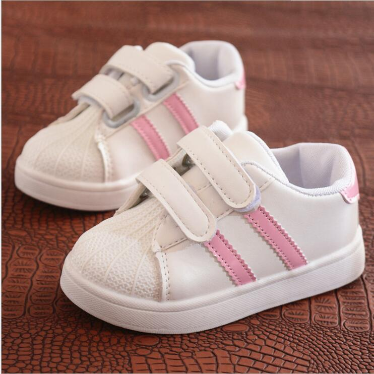Spring summer children's fashion sneakers new boys girls sprt shoes shellfish sneakers casual white shoes for kids