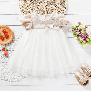 Meninas vestido de renda flor princesa crianças vestidos para meninas 1st festa de aniversário casamento vestido do bebê da criança batismo do bebê vestido de bola