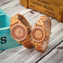 цена на Shifenmei 2019 Couple Wristwatch Wood Watches Women Men Analog Quartz Fashion Watch for Couples Christmas Gifts erkek kol saati