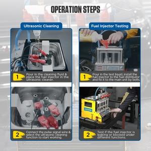 Image 4 - AUTOOL CT160 רכב דלק מזרק חימום ניקוי Tester מכונת קולי מנקה אופנועים מצת Cleanning 220V 110V