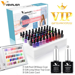 2020 Nieuwe 60 Mode Kleur Venalisa Gel Polish Enamel Vernish Kleur Gel Polish Voor Nail Art Design Hele Set Nail gel Leerling Kit