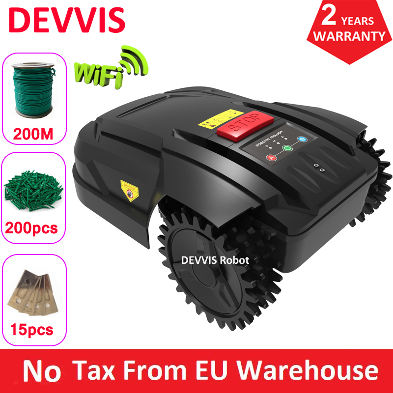 Spain Or Poland Warehouse Cheapest Lawn Mower Robot For Small Lawn With 200m Wire+200pcs Pegs+15pcs Blade,Auto Recharge,Schedule