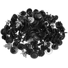 100pcs/set Mixed 10 Type Fit 6mm 7mm 8mm 9mm Hole Car Plastic Push Rivet Trim Panel Fastener Clips Set