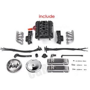 Image 2 - Classic V8 F82 Simulated Engine Motor Fan Radiator For 1/10 RC Crawler Car Traxxas TRX4  SCX10 Rc4wd D90 VS4 Upgrade