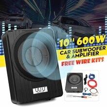 10 Inch 600W Car Subwoofer Speaker Audio Amplifier Vehicle Subwoofer Bass Amplifier Enclosure Auto Sound Car Audio Speakers