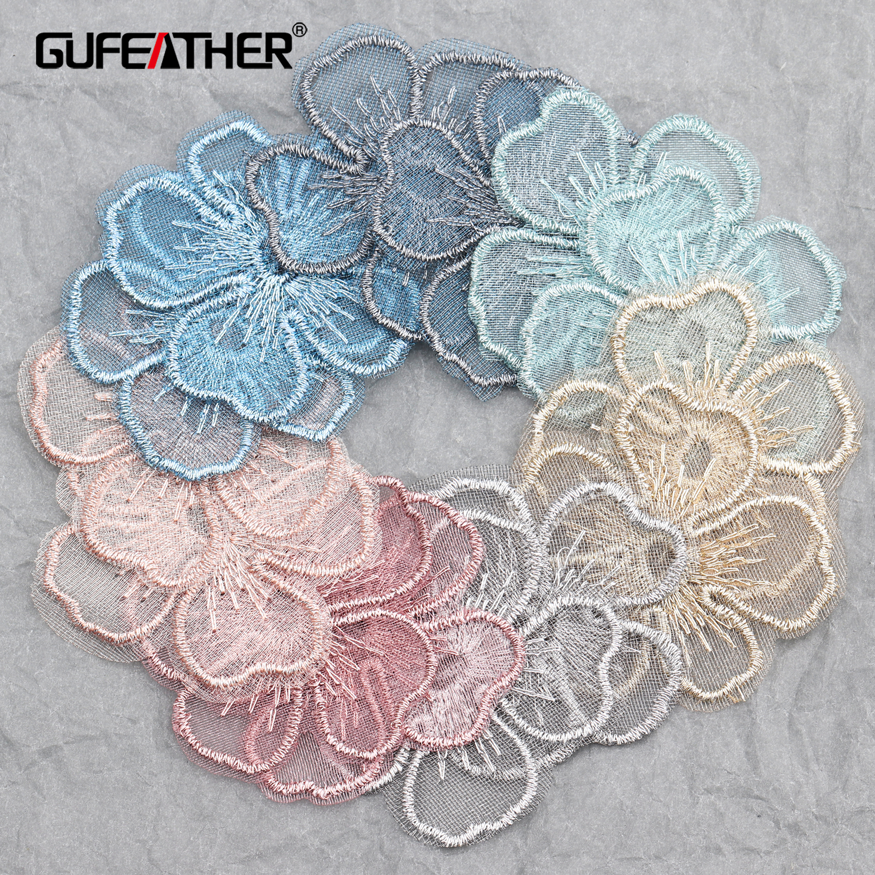 GUFEATHER L219,jewelry Accessories,diy Pendant,flower Shape,jewelry Findings,knitted Patch,hand Made,jewelry Making,20pcs/lot