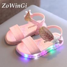Size 21-30 Sandals Baby Girl Summer Shoes for Girls Children 2021 New Led Light Sandals for Kids sandalia infantil menina cheap ZoWinGi 13-24m 25-36m 4-6y 13 5cm 14cm 14 5cm 15cm 16cm 17cm 17 5cm 18cm CN(Origin) Fashion Sandal Lighted waterproof Anti-Slippery