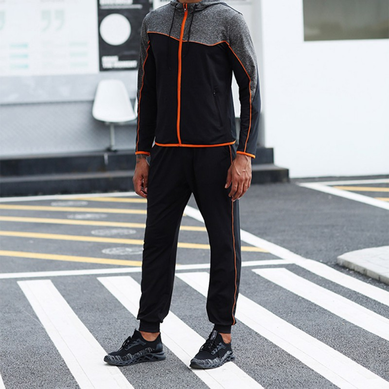 Pants Men Stretch Beam Foot Quick Drying Trousers Pocket Breathable Sports Fitness Casual Pants