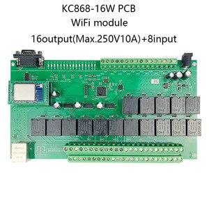 Image 1 - 16 + 8ch ethernet placa pcb kincony módulo de automação residencial inteligente controlador controle remoto 10a relé diy sistema interruptor domotica