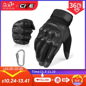Image 1 - Touch Screen Leather Motorcycle Gloves Motocross Tactical Gear Moto Motorbike Biker Protective Gear Racing Full Finger Glove Men