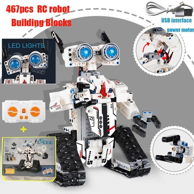 2020 NEW City Engineering RC Robot Control Intelligent Building Blocks Bricks Construction legoINGlys Technic Toy For Children