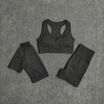 Sans couture femmes Yoga ensemble vêtem