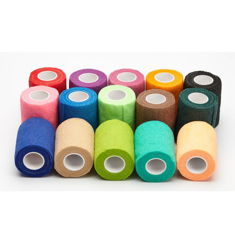 1Pcs Protective Self-adhesive Elastic Bandage Color Non-woven Self-adhesive Bandage Tattoo Bandage Medical Tape For Camping Spor