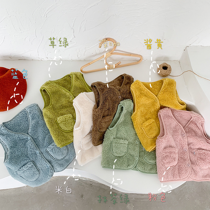 New Autumn Winter Children Vest Fur Baby Waistcoat Kids Light Vest for Girl Boy Toddler Children Clothes Fur Jacket Sleeveless 3