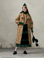 [11.11] IRINACH88 2019 Winter New Collection oversized long embroidered wool coat