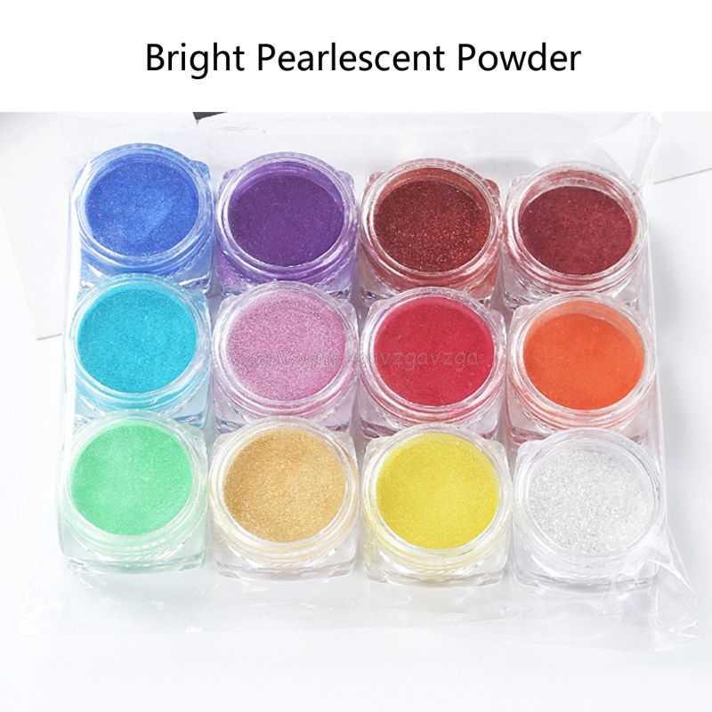 12 色雲母粉エポキシ樹脂染料パール顔料天然雲母ミネラル手作り石鹸着色粉末 Au07 19 ドロップシッピング