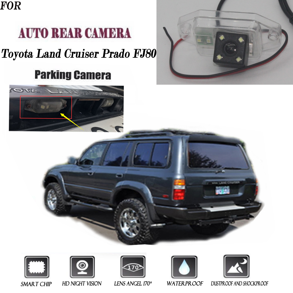 Rear View Camera For Toyota Land Cruiser Prado FJ80 CCD Night Vision Reversing Camera License Plate Camera Backup