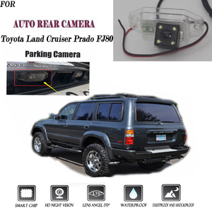 Rear View Camera For Toyota Land Cruiser Prado FJ80 CCD Night Vision Reversing Camera license plate camera backup