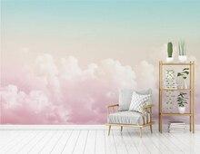 Большие Настенные обои xue su на заказ Красивое Розовое Небо