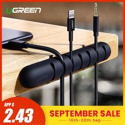 Ugreen Kabel Veranstalter Silikon USB Kabel Wickler Flexible Kabel Management Clips Kabel Halter Für Maus Kopfhörer Kopfhörer