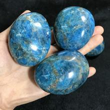 Natural crystal rough stone Blue apatite ornaments handles play aquarium large particles gravel