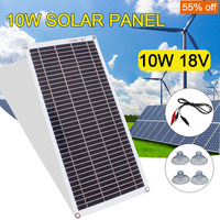 태양 전지 패널 10w 18v 발전기 전원 충전기 태양 전지 패널 키트 캐 러 밴 보트에 대 한 배터리 클립 야외